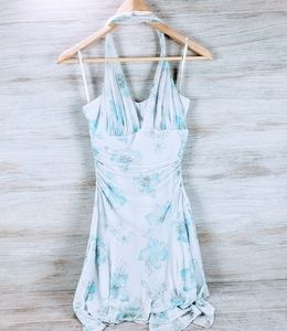 Taboo Halter Top Floral Print Dress